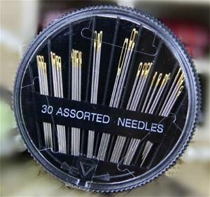 30 Assorted Simple Self Threader Threading Sewing Needles Hand Sewing Tools Set C $2.51