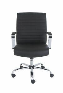 Grandamp;Eight Drake Bonded Leather Executive Chair in Black