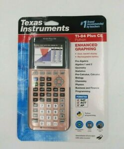 Texas Instruments TI 84 Plus CE Python Enhanced Graphing Rose Gold Calculator