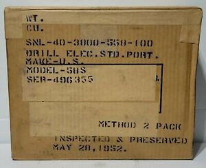 ANTIQUE THE UNITED STATES ELECTRICAL TOOL CO. 5 8 Drill JACOBS CHUCK NIB 1952 $1000.00