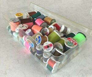 Vintage ASSORTED SEWING SPOOL THREAD LOT all colors many new vintage box $9.99