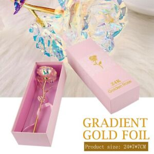 24k Gold Plated Foil Rose Flower Valentines Birthday Anniversary Mother Day Gift