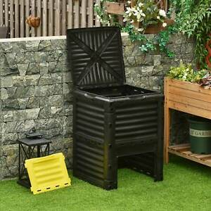 Garden Compost Bin 80 Gallon Large Outdoor Compost Container with Easy Assembly $69.99