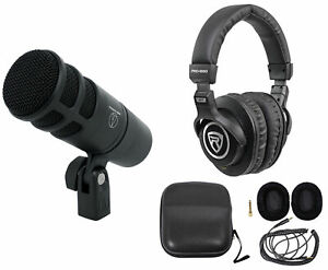 Audio Technica AT2040 Microphone Broadcast Podcast Podcasting Mic Headphones $124.95