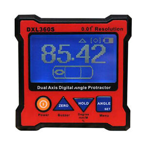 Digital Level DXL360S Dual Axis Digital Angle Protractor with 5 Side Magnetic $89.37