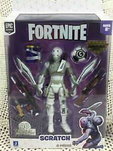 Epic Games Fortnite Scratch Legendary Figure with WEAPONS 40 points Articulation $34.00