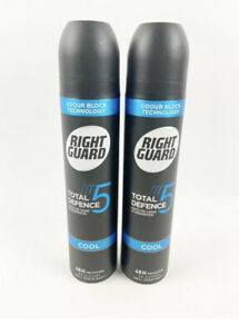 TWO Right Guard Total Defense 5 COOL Antiperspirant Deodorant 48h Protection $49.99