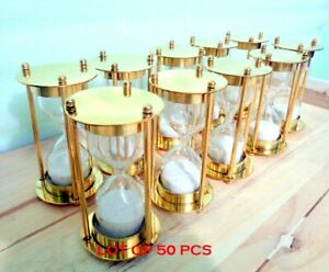 Nautical Brass Sand Timer Hourglass Vintage Collectible Maritime Desk Decor Gift $250.00