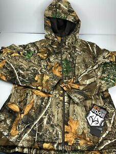 Under Armour UA Storm Realtree Womens Hunting Outdoor Camo Zip XL Hooded Jacket