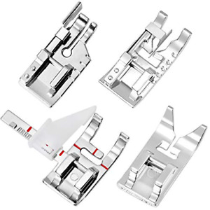 4 Pcs Sewing Feet Kit 3 Pcs Sewing Machine Foot with 1 Pcs Adjustable Guide $7.74
