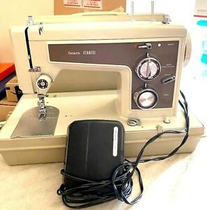 CIRCA 70's SEARS KENMORE PORTABLE SEWING MACHINE MODEL 158.14301 WORKS READ ALL $224.99