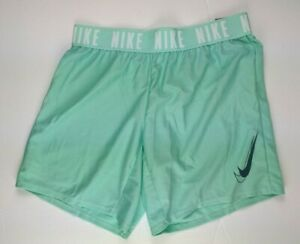 Nike Dry Fit Shorts Emerald Green Girls Large $21.73