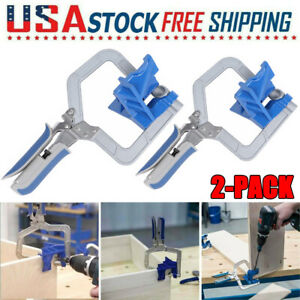 2Pcs Set 90 Degree Right Angle Clip Clamps Corner Holders Woodworking Hand Tools $32.79