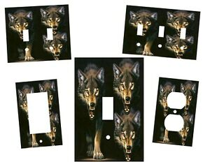 WOLF PREDITOR HOME DECOR LIGHT SWITCH PLATES OR OUTLETS $6.49