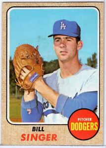 1968 TOPPS #249 BILL SINGER IN EX CONDITION DODGERS $1.00