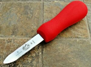 VICTORINOX OYSTER Knife 2 3 4 Blade New Haven Style Bent Tip SuperGrip Handle