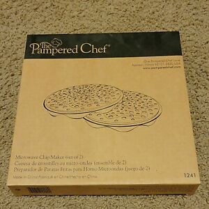 2 Pampered Chef Microwave Chip Maker 1241