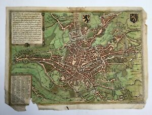 Card Antique of The City Of Ghent Enhanced Time 16th GBP 102.31