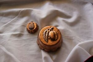 2 Antique Copper Peach and Pear Candy Molds $35.95