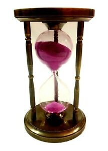 6 Antique Brass Chess Top Sand Timer Nautical Maritime Hourglass Vintage Clock $44.99