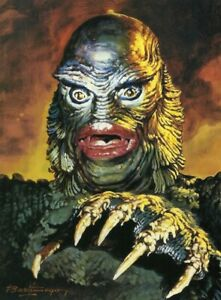 CREATURE from the BLACK LAGOON Limited Edition Lithograph Signed by Basil Gogos $149.00