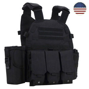 Tactical Vest MOLLE Military Assault Style Hunting 1000D Modular Combat Airsoft