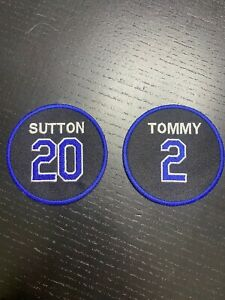 Tommy Lasorda Don Sutton Dodgers Patch 2021 #2 #20 Jersey Patch Iron On