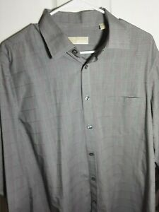 NEW no tags Michael Kors dress shirt for men grey with purple lines $25.00
