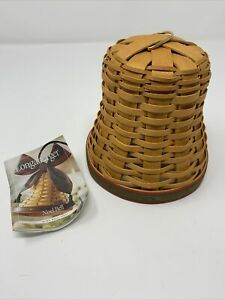 Longaberger 2000 Christmas Bell Basket With Green And Red Trim $20.00