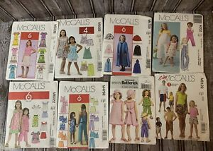 McCall's Kids Sewing Patterns Lot of 8 New $25.00