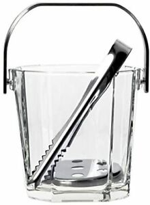 Adelia Ice Pale Glass Clear 900ml Schmal Ice Holder Commercial Made in Japan M6