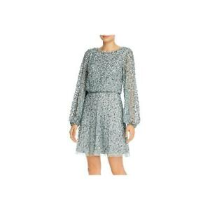 Adrianna Papell Womens Sequined Blouson Party Mini Dress BHFO 7474 $39.59