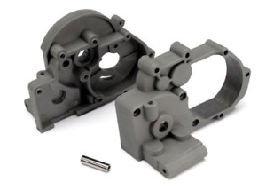 Traxxas 3691A Left and Right Gearbox halves grey with Idler Shaft $8.00