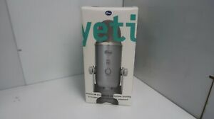 Blue Yeti USB Microphone For Professional Recordings Silver. New