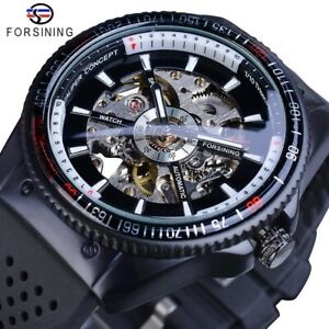 ⌚ New Mens Watch Sport Silicone Luxury Automatic Mechanical Casual Wristwatch $43.56