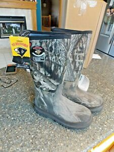 HERMAN Survivors Rubber 1000g Thinsulate Men's Camo Hunting Boots Size 9 NEW