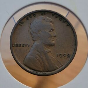 1909 VDB 1C Lincoln Cent Wheat Penny