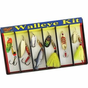 Mepps Walleye Kit Plain and Dressed Lure Assortment K6A
