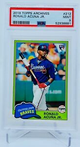 2018 Topps Archives Ronald Acuna Jr RC PSA 9 $34.99
