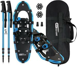 21Inches Light Weight Snowshoes with Poles for Women Men Youth Kids Aluminum... $105.00