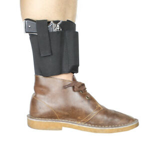 Tactical Ankle Holster Left Right Hand for Concealed Carry with 2 Magazine Pouch $9.20