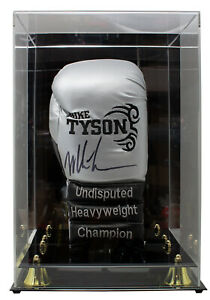 Mike Tyson Signed Silver Right Tattoo Boxing Glove w Glove Case JSA $329.99