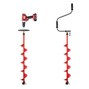 Buran Ice Auger With Safety Plate Drill Adapter Kit for Ice Fishing