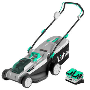 Litheli 2*20V Lawn Mower Cordless Brushless Electric Battery Powered w Charger $269.99