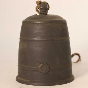 Japanese Antique Bronze hand bell Temple Buddhist BOS446 $175.00