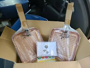 Simply Ming 2pc Hard Anodized Grill Griddle Brand New $50.00