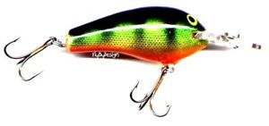 Rapala NEW Vintage 2.75-inch Perch Fat Rap Floating Deep Runner Lure (# FR07 P)