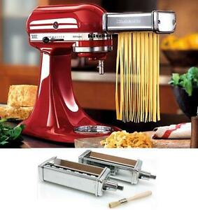 KitchenAid Kpca 2pc Stainles Steel Pasta Angel Hair Cuter Stand Mixer Attachment