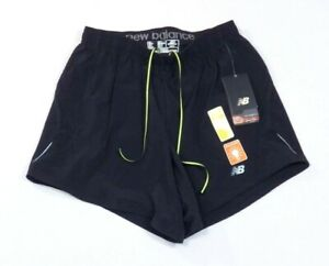 New Balance Lightning Dry Semi Fitted Lined Black Running Shorts Mens NWT