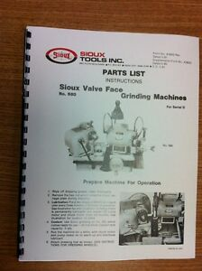 Sioux Model 680 Valve Grinder Instruction and Parts Manual  $18.95